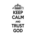 Religious Christian iPhone 4 Case Cover Keep Calm And Trust God White by Lana Wynne