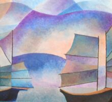 Shades of Tranquility - Cubist Junks Sticker