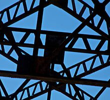 Railroad Trestle Silhouette by John Butler