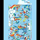The many faces of Rainbow Dash (I-Phone) by Legolord99