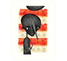 A Shadow of Former Self Art Print