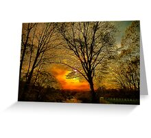 Sunset over Larz Anderson Park Greeting Card