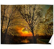 Sunset over Larz Anderson Park Poster