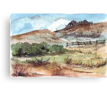 A farm fence Canvas Print