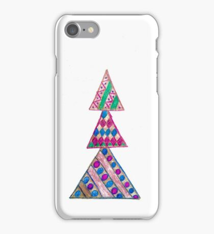Colorful Christmas tree  iPhone Case/Skin