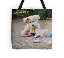 Winnie Surveys Her Chalk Drawings Tote Bag
