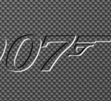 James Bond 007  carbon fiber Sticker