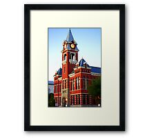 Twilight Red Framed Print
