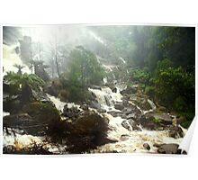 Beautiful Tasmania - St Columba Falls bottom section Poster