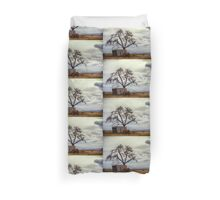 Tree In The Shed Duvet Cover