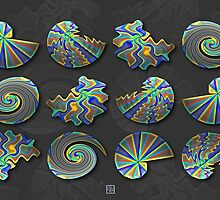 """""""Spirals of Theodorus Rendered""""© by Lisa Clark for Thinker Collection - STEM Art"""
