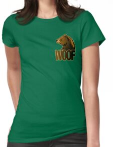 BEAR WOOF 2 Womens Fitted T-Shirt