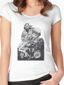 thugs on a bike Women's Fitted Scoop T-Shirt