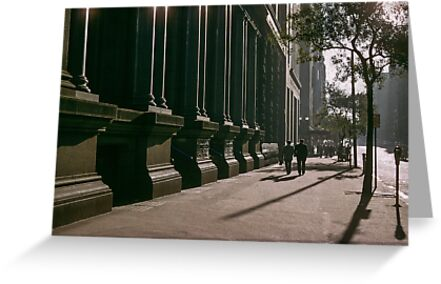 Collins street Melbourne in Evening 1957 by Fred Mitchell