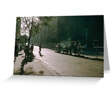 1957 Evening Collins Street Melbourne Greeting Card