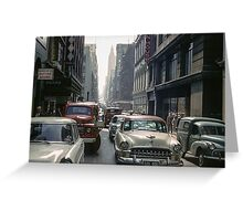Little Collins Street Traffic 1960 Greeting Card