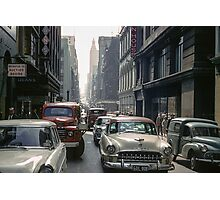 Little Collins Street traffic 19601100 0000 Photographic Print