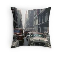 Little Collins Street traffic 19601100 0000 Throw Pillow