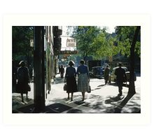 1957 Collins Street in morning Art Print