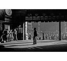 Clockwatcher Flinders Street Station B & W 1958 Photographic Print