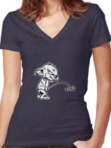 Bad Dobby- Harry Potter Shirt Women's Fitted V-Neck T-Shirt