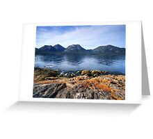 """The Hazards"" ∞ Coles Bay, Tasmania - Australia Greeting Card"
