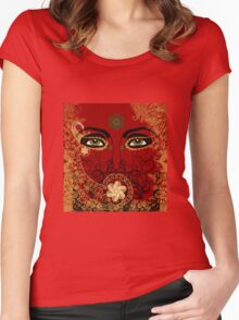 Mystery Eyes Women's Fitted Scoop T-Shirt