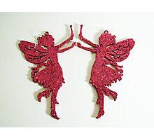 Pink Glitter Fairies Photographic Print