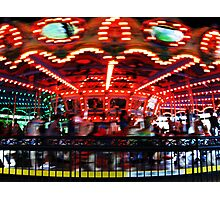 Carousel in Motion Photographic Print