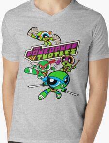 The Powerpuff Turtles Mens V-Neck T-Shirt