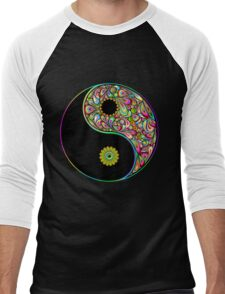 Yin Yang Symbol Psychedelic Art Design Men's Baseball ¾ T-Shirt