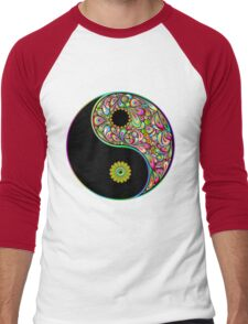 Yin Yang Symbol Psychedelic Art Design Men's Baseball ¾ T-Shirt