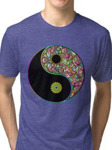 Yin Yang Symbol Psychedelic Art Design Tri-blend T-Shirt