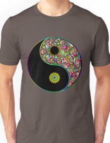 Yin Yang Symbol Psychedelic Art Design Unisex T-Shirt