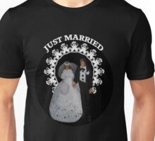 I DO...BRIDE AND GROOM PILLOW,TOTE BAG,TEE SHIRT,JOURNAL,PICTURE,CARD,ECT. Unisex T-Shirt