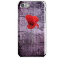 Single Poppy  iPhone Case/Skin
