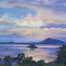Sunset over Wallis Lake by Terri Maddock