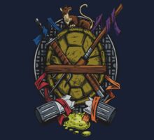 Turtle Family Crest - Full Color Kids Tee