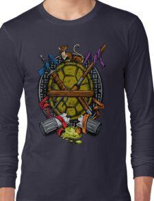 Turtle Family Crest - Full Color Long Sleeve T-Shirt
