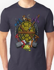 Turtle Family Crest - Full Color Unisex T-Shirt