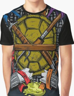 Turtle Family Crest - Full Color Graphic T-Shirt