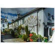 Hawkshead...The Honeypot and Ivy Covered Cottage With Jam Jars Poster
