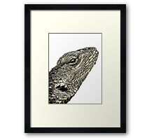 ©NS Lizard Portraid IIIADTMM. Framed Print