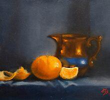 Still life in orange and blue by ellenjb