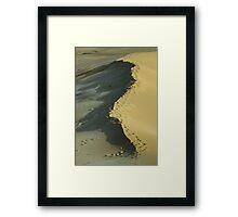 Footprints on a dune Framed Print