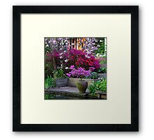 Purple Explosion Framed Print