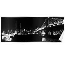 59th St Bridge & Power Plant Poster
