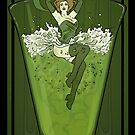 Art Nouveau Absinthe Poster by LilyM