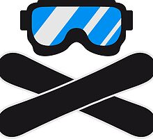 snowboard goggles goggle equipment eyes snowboard pirate flag by Style-O-Mat