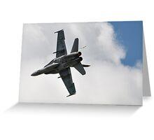 RAAF FA18 low flypast Greeting Card